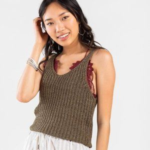 Francesca's | NWT Helena Sweater Tank Top